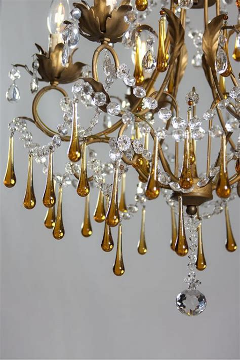 antique italian chandeliers antique italian chandelier with colored drops