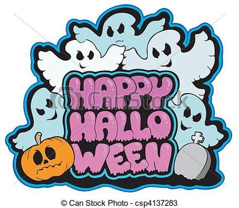 halloween themes line vectors of happy halloween theme 3 vector illustration