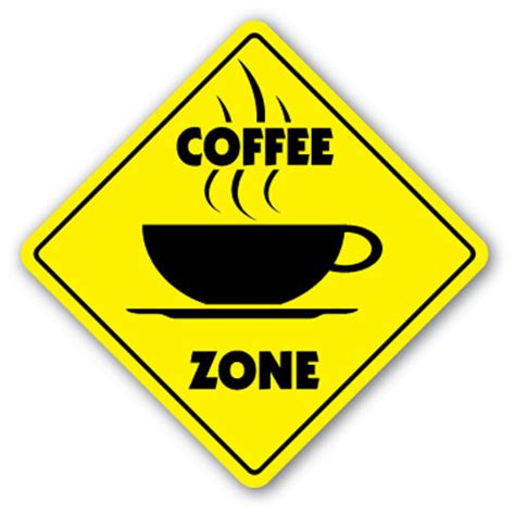 Coffee Zone coffee zone sign new novelty shop beans cup gift barista