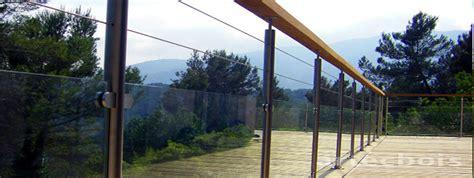 vitre de pas cher balcons et terrasses en bois en hauteur rambardes et garde corps dans toute la