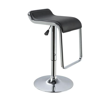Modern Leather Bar Stools by Dreamfurniture T1048 Eco Leather Bar Black Stool