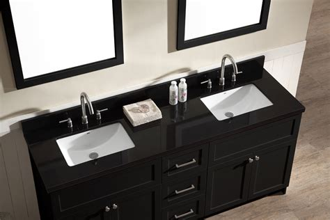 double bathroom sink countertop black granite countertops in bathrooms best home design 2018