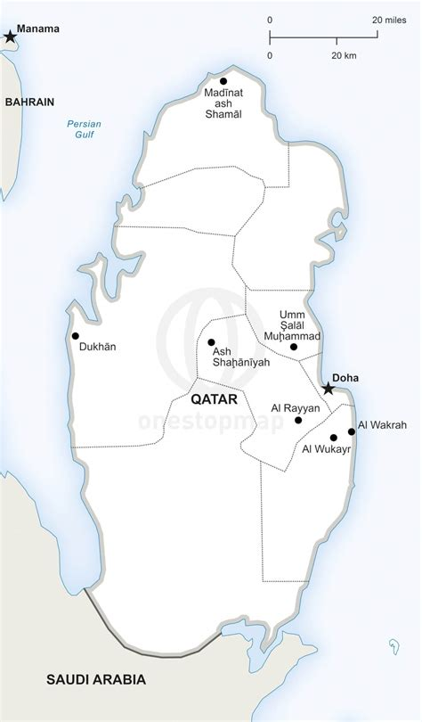 vector map  qatar political  stop map