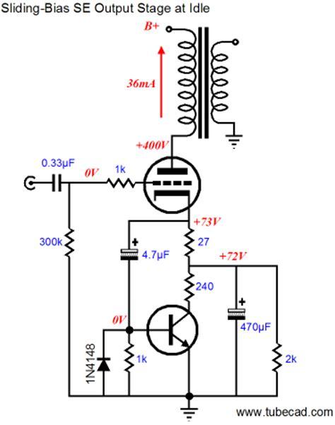 cathode bias resistor value el34 the brook lifier sliding bias se power lifier
