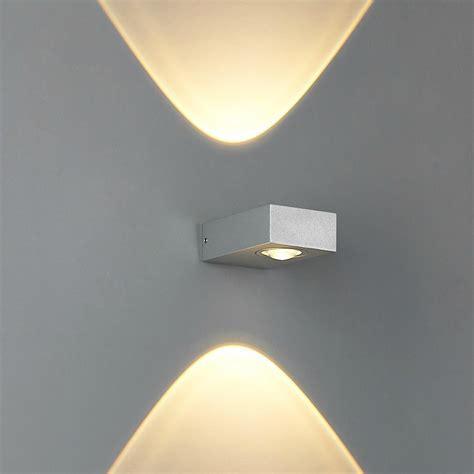 elevation indoor outdoor led wall clessidra modern up contemporary wall spot light for