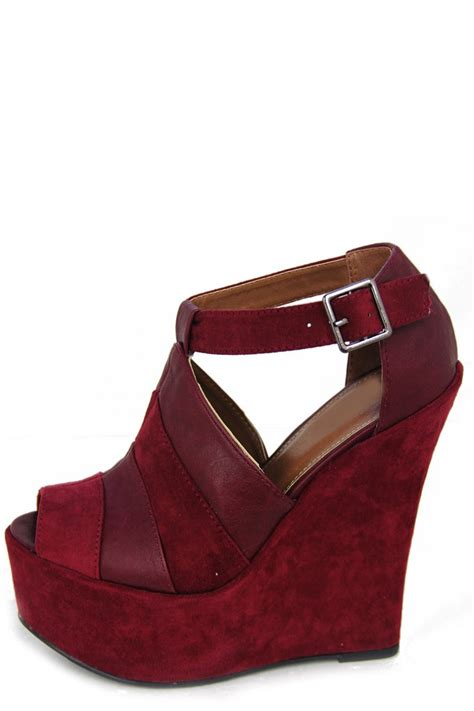 Wedges Boot Style Marun wedge maroon style is legendary