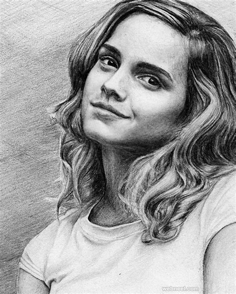 emma watson drawing 40 beautiful and realistic portrait drawings for your