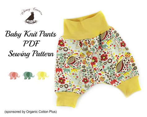 Baby Clothes Pattern Pdf | free pdf sewing pattern for baby knit pants from whimsy