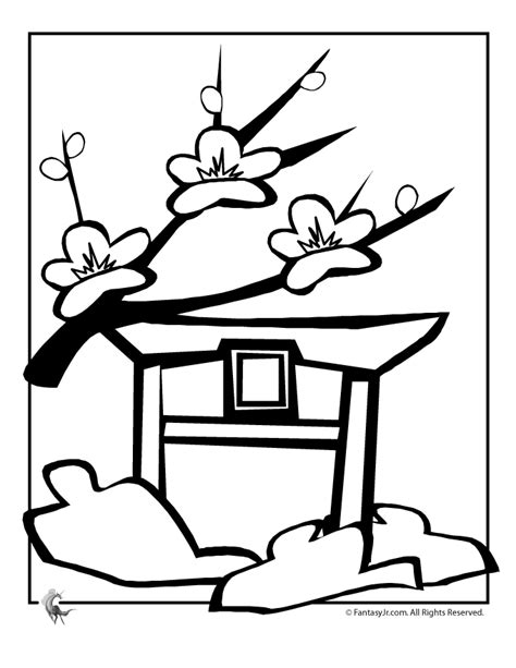 coloring page cherry tree cherry blossom coloring pages coloring home