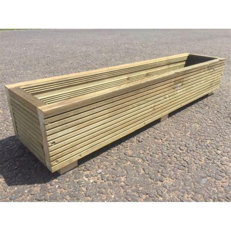 handmade treated timber wooden decking window box flower