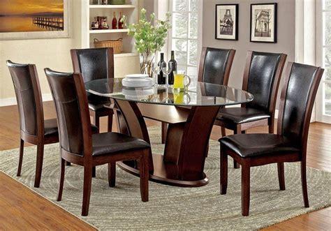 manhattan i dark cherry oval pedestal dining room set manhattan i oval dining room set w brown chairs furniture