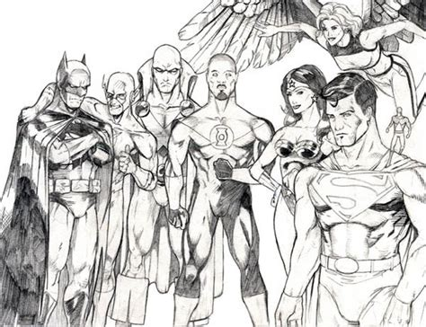 sketch  justice league coloring page netart