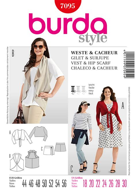 pattern review best of 2013 burda 7095 misses bolero vest and scarf