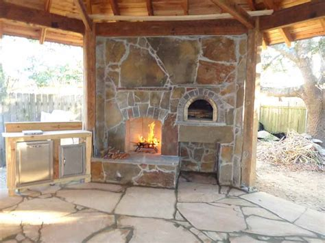 Fireplace Pizza Oven Combo by Brickwood Ovens Hammer Family Wood Fired Pizza Oven And