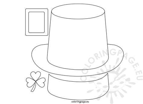 leprechaun hat paper craft coloring page