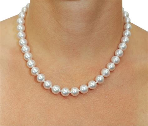 white akoya pearl necklaces shop pearl necklaces the