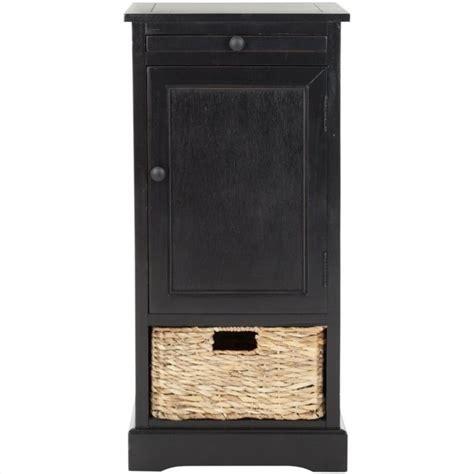 Black Wood Storage Cabinet by Safavieh Randy Wood Unit Black Storage Cabinet Ebay