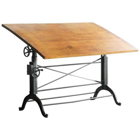 Iron Drafting Table Antique Cast Iron Drafting Table By The Frederick Post Company At 1stdibs