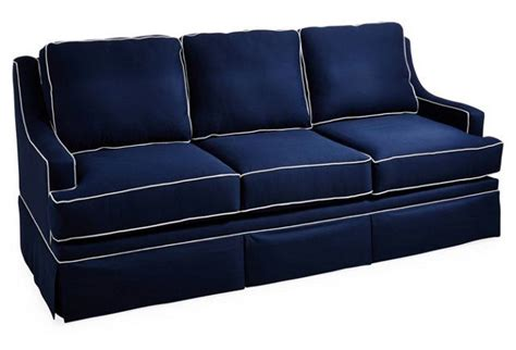 navy blue couch with white piping navy blue sofa with white piping refil sofa