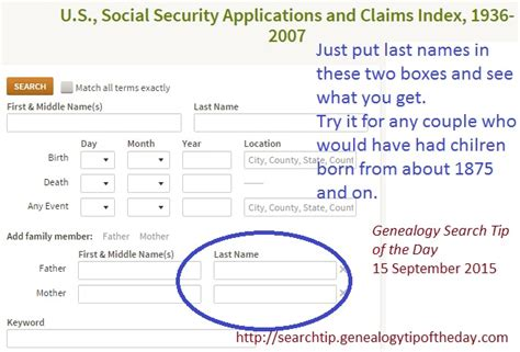 Ancestry Social Security Records Searching For Parents Before Social Security In Applications 171 Genealogy Search Tip