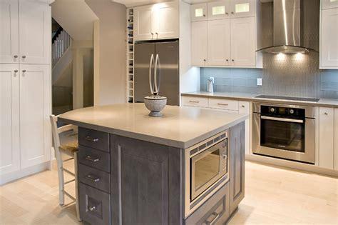 Slate Grey Kitchen Cabinets by Newport Oyster Slate Grey Maple Transitional