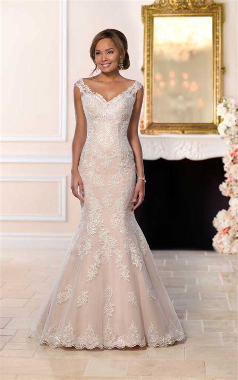 modern lace mermaid wedding dress stella york wedding gowns