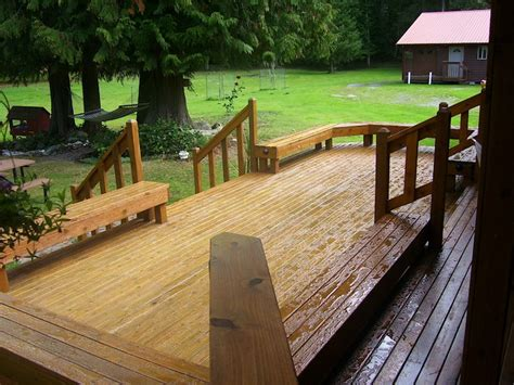 decks with benches built in deck with built in benches porches patios home