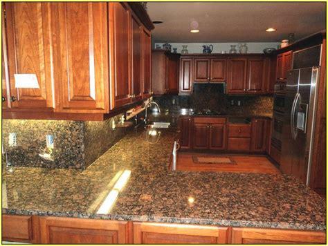 wonderful Kitchen Countertop Tile Ideas #2: baltic-brown-granite-with-backsplash.jpg