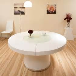 Large White Table L Large White Gloss Dining Table Glass Lazy Susan Led