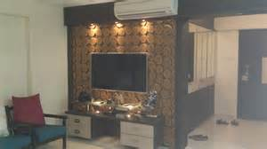 Led tv unit with the required drowes and wooden loft effect