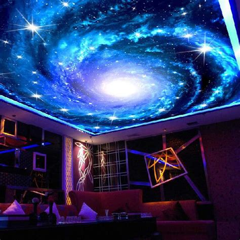 nachtleuchtende wandfarbe universe space ceiling murals wallpaper 3d photo wall