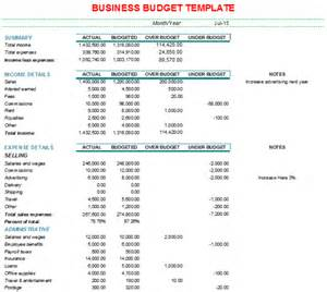 Budget Template Business Monthly Business Budget Format With Charts