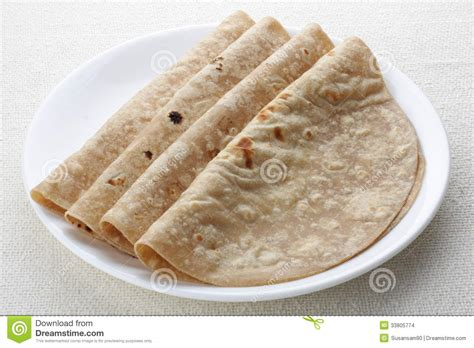 Handmade White Bread - indian bread chapathi stock images image 33805774