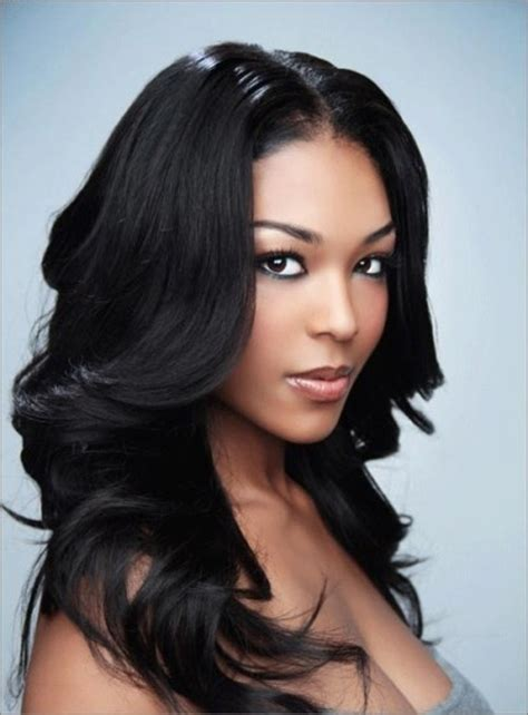 2014 african american long hairstyles for women invisible part long beautiful natural hairstyle african american women