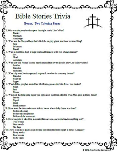 Bible Quiz Wedding At Cana by 7 Best Images Of Printable Bible Free