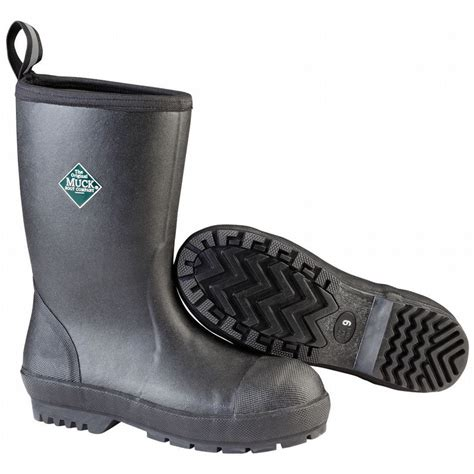 steel toe muck boots muck chemical slip resistant steel toe rubber chore boot