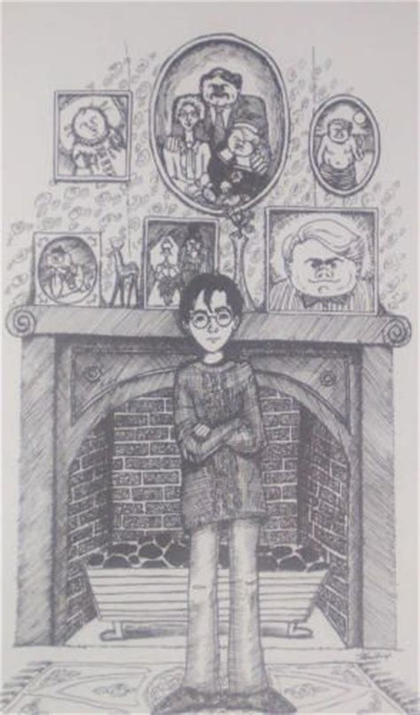J K Rowling Sketches by Harry At The Dursely House Drawing By Jk Rowling Madame