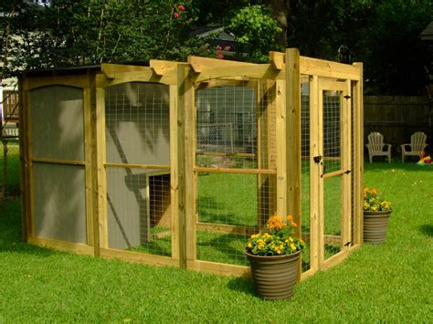 dog house attached to house outdoor dog run diy crafts