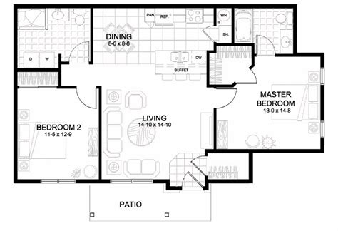 two bedroom two bathroom apartments 2 bedroom garage apartment floor plans 28 images 1