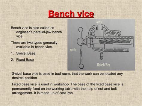 bench vice description vices