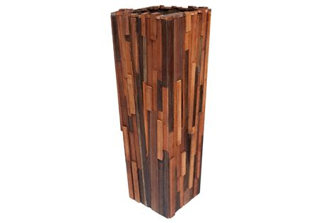 modern wood planter salvaged wood planter contemporary planters dering