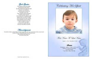 Funeral Program Template Download Funeral Program Templates Large Tabloid Blue Angel