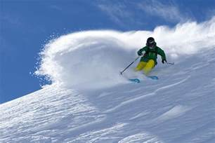 Snow Cornice Ski Chile Argentina South American Andes Skiing