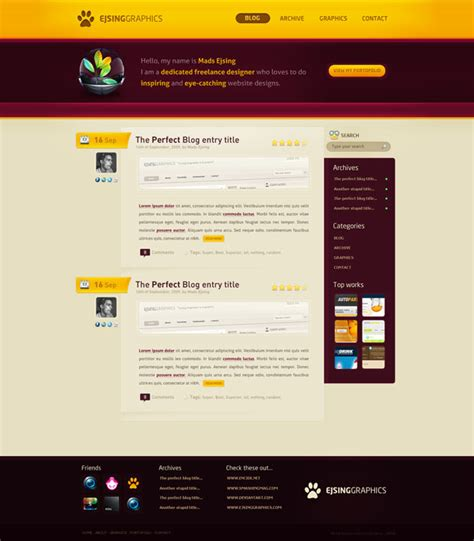 blog design and layout fresh exles of web design and interfaces designzzz