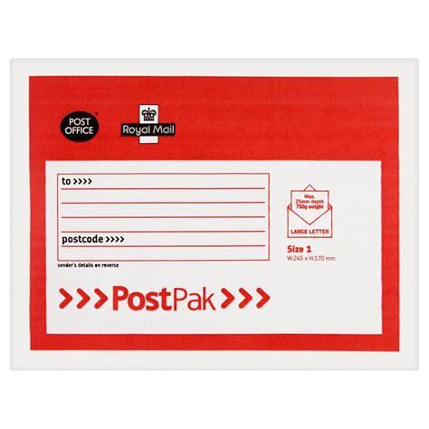 Post Office Envelopes by Post Office Postpak Envelope Size 1 245 X 170mm At Wilko