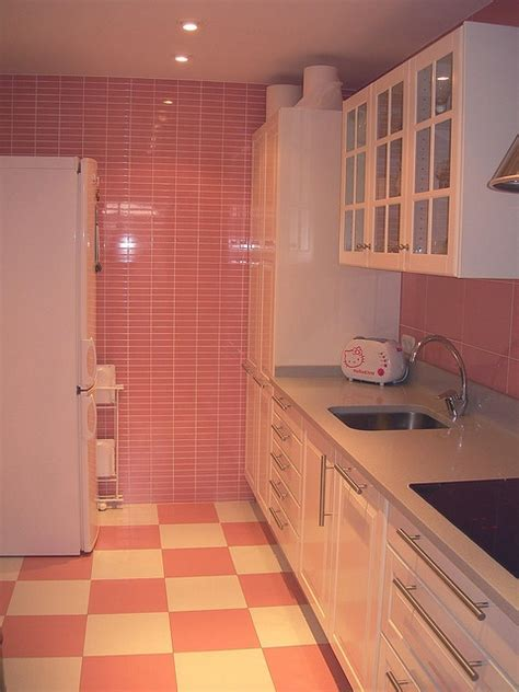 Pink Tiles Kitchen pink tiles kitchens