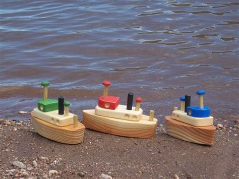 toy boat decoration wooden tug boat toy boat collector decoration sandbox toy