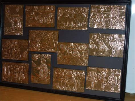copper projects copper foil class project framed projects new copper class projects and
