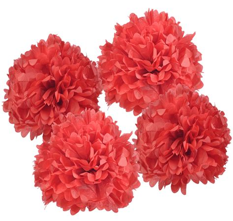 Pom Poms From Tissue Paper - blowout 12 quot tissue paper pom poms 4 pack