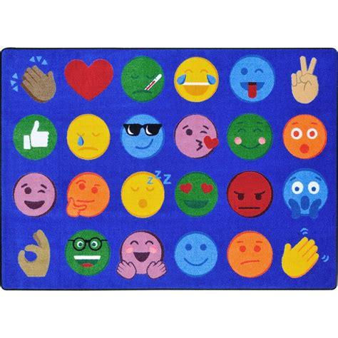 emoji rug emoji expressions classroom circle time seating rug 7